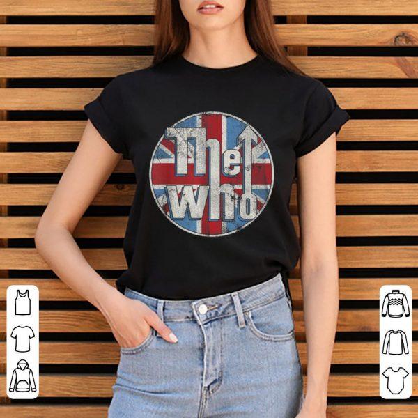 Nice The Who Union Jack Circle Logo shirt