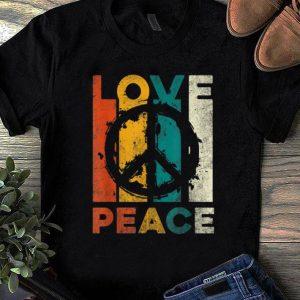 Nice Vintage Love Peace shirt