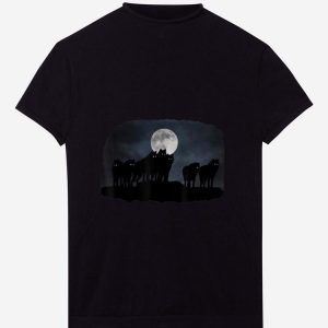 Nice Wolfpack and moon shirt