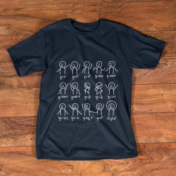 Official Algebra Dance Graph Figures Math Equation shirt