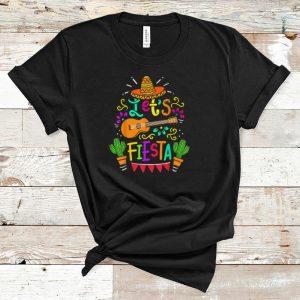 Official Cinco De Mayo Let's Fiesta Guitar Cactus shirt