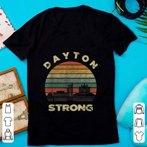 Official Dayton Strong Cityscape Ohio Vintage shirt