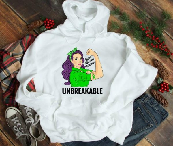Official Green Lyme Disease Warrior Unbreakable Awareness shirt