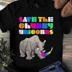 Official Save The Chubby Unicorns Rainbow shirt