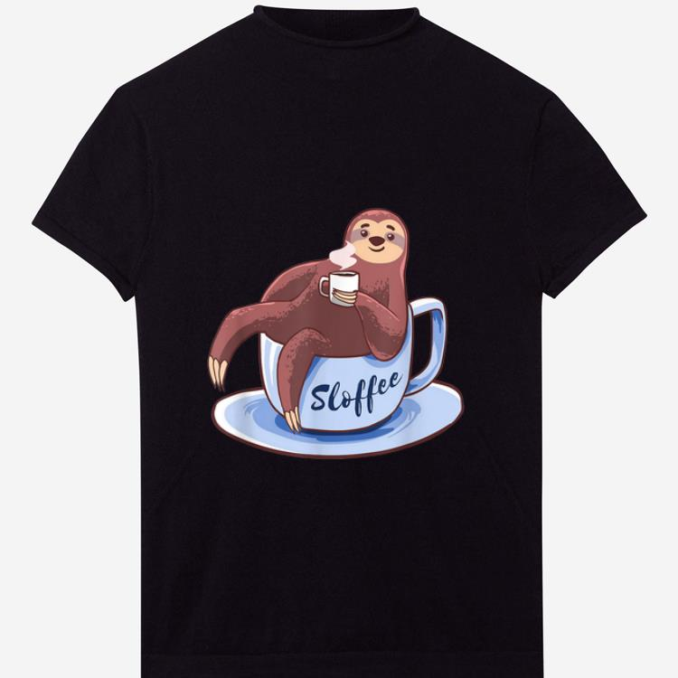 Official Sloffee Sloth Lying On A Cup Of Coffee Sloffee Meme shirt 1 - Official Sloffee Sloth Lying On A Cup Of Coffee Sloffee Meme shirt