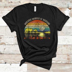 Official Whisper Words Of Wisdom Let It Be Vintage Guitar Lake shirt