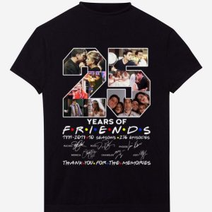 Original 25 Years Of Friends Thank You For The Memories Signature shirt