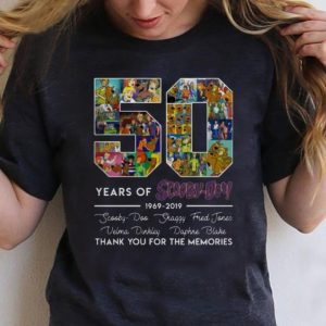 Original 50 Years of 1969-2019 Scooby Doo Signature Thank You For Memories shirt