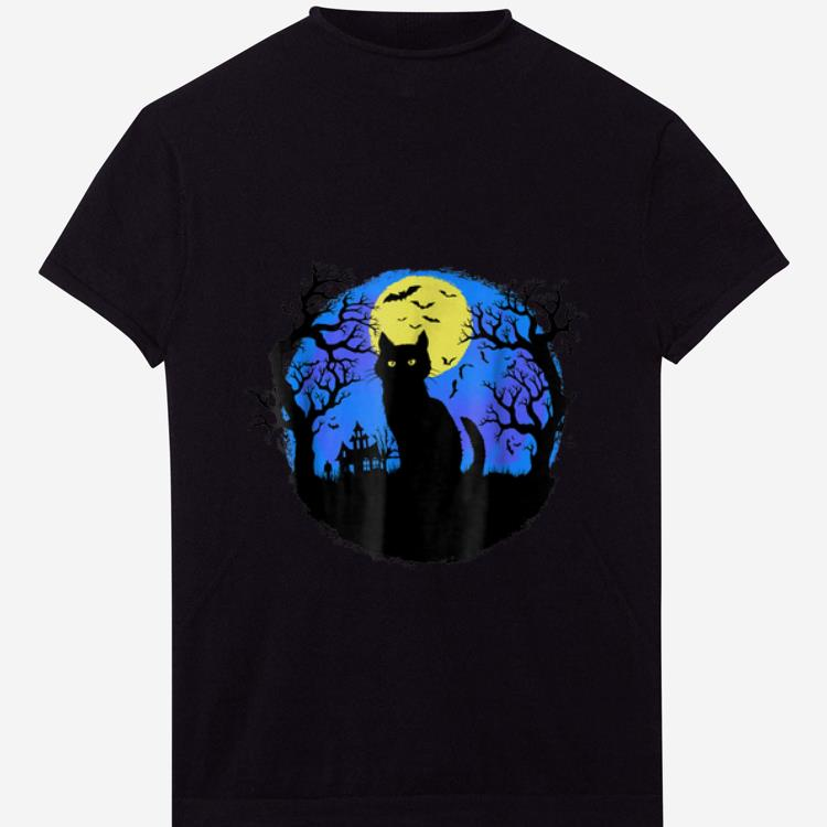 Original Black Cat at Night Halloween shirt 1 - Original Black Cat at Night Halloween shirt