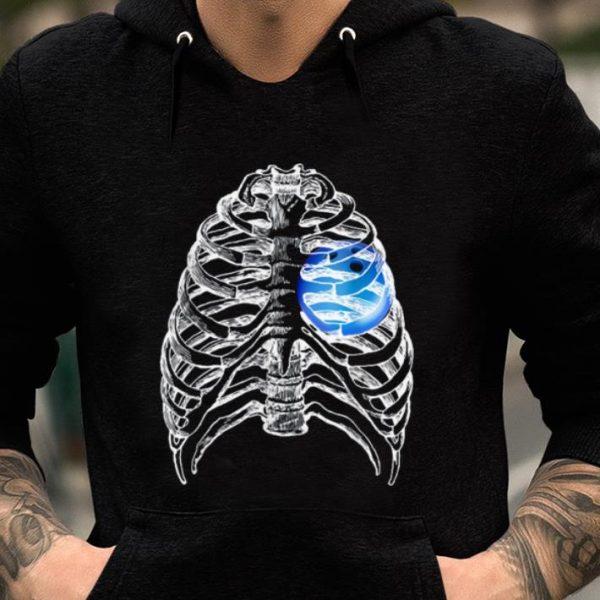 Original Bowling Heart In Skeleton Halloween Bowling Gifts shirt