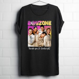 Original Boyzone Thank You & Goodnight 2019 Tour Merchandise shirt