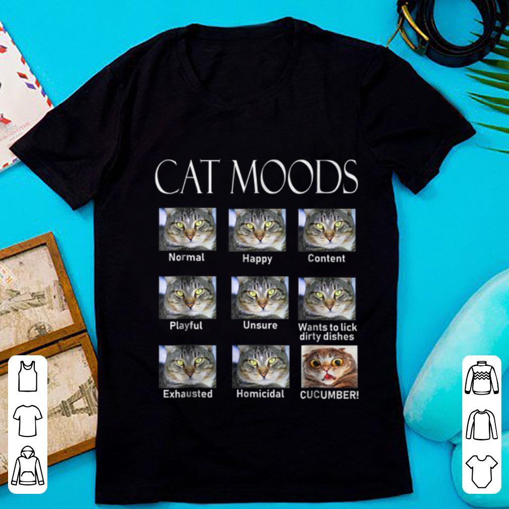 Original Cat Moods Cucumber shirt 1 - Original Cat Moods Cucumber shirt