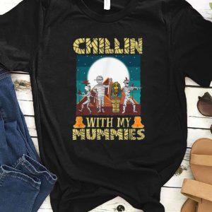 Original Chillin With My Mummies Halloween Boys Kids Funny Gift shirt