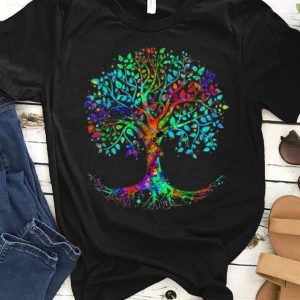 Original Colorful Life is really Good Vintage Tree Art shirt