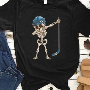 Original Dabbing Skeleton Hockey Halloween Kids Boys Men Gift shirt