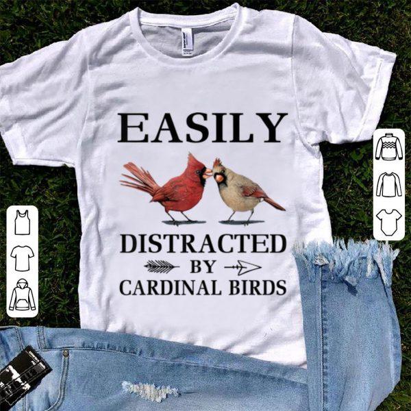 Original Easily Distracted By Cardinal Birds shirt