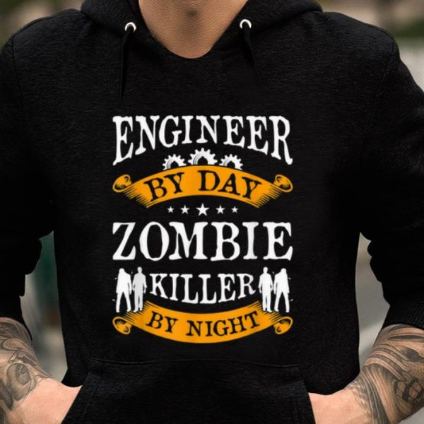 Original Engineer By Day Zombie Killer By Night Halloween Party Gift shirt