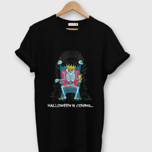 Original Funny Halloween Is Coming Skeleton Bones Throne shirt