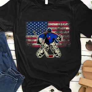 Original Ice Hockey Goalie USA Flag shirt