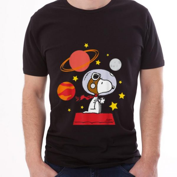Original Peanuts Snoopy Space Pilot Mars, Moon And Saturn shirt