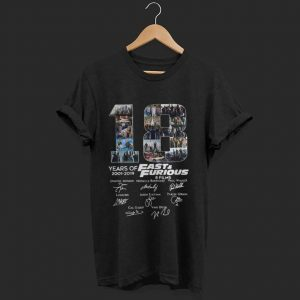 Premium 18 Years Of Fast And Furious 8 Films Signature shirt
