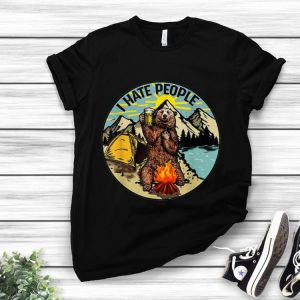 Premium Bear Camping I Hate People Drinking Beer shirt