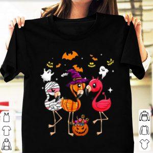 Premium Flamingo Happy Halloween Cute Mummy Witch Demon shirt