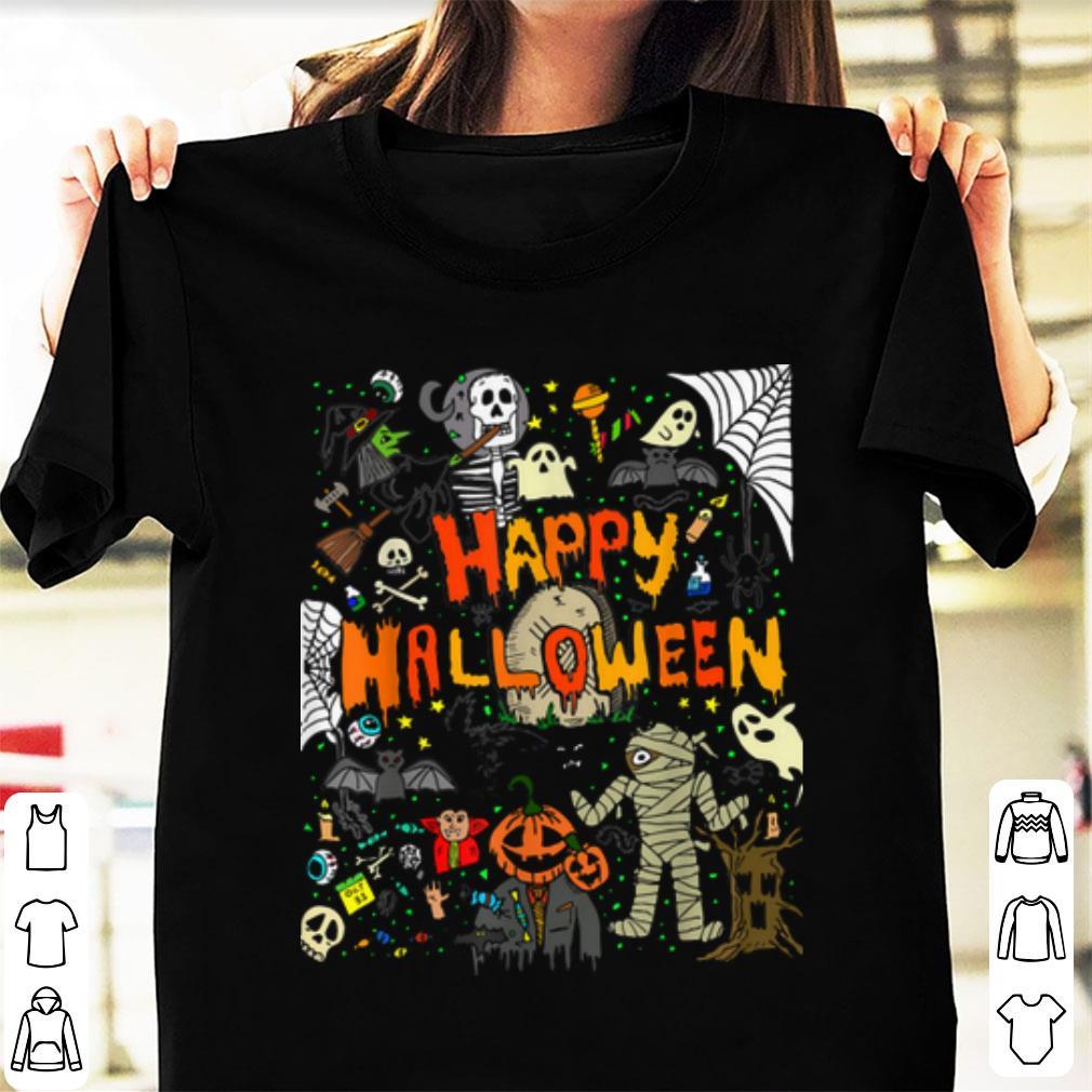Premium Happy Halloween Scary Retro shirt 1 - Premium Happy Halloween Scary Retro shirt
