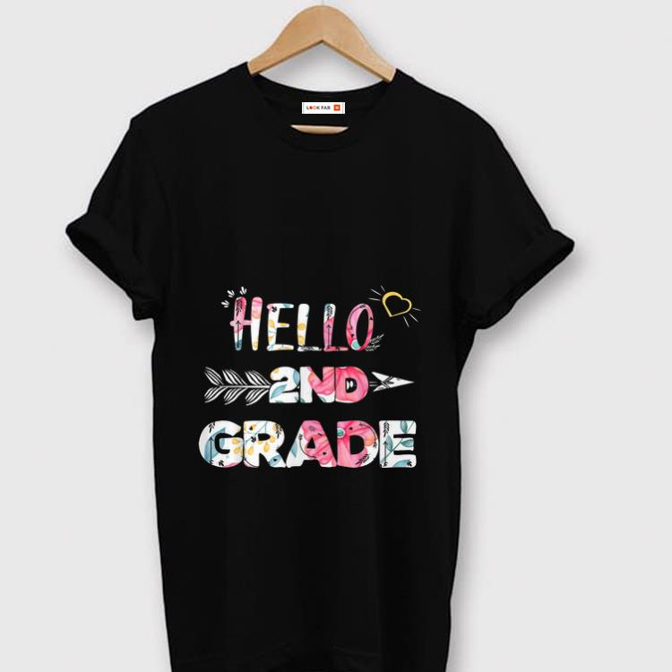 Premium Hello 2nd Grade Back To Shool Floral shirt 1 - Premium Hello 2nd Grade Back To Shool Floral shirt