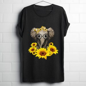 Premium Sunflower Headband Elephant shirt
