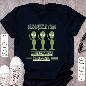 Pretty Alien Rescue Team Area 51 shirt