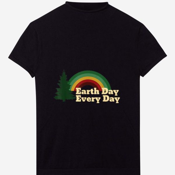 Pretty Earth Day Everyday Rainbow Pine Tree shirt