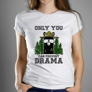 Pretty Llama Camping Only You Can Prevent Drama shirt
