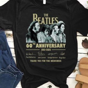 Pretty The Beatles 60th Anniversary Thank You For Memories Signature shirt