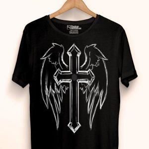 Religious Holy Crucifix Christian Angel Wings Cross shirt