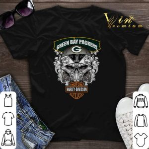 Skull Green Bay Packers Harley-Davidson shirt sweater