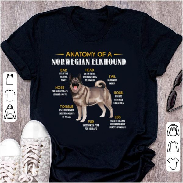 Top Anatomy Of A Norwegian Elkhound shirt