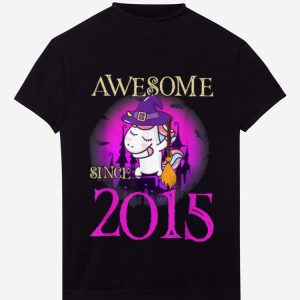 Top Awsome Since 2015 Unicorn 4th Birthday Halloween Gift shirt