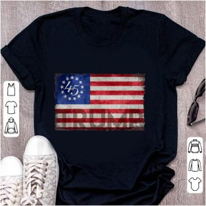 Top Betsy Ross Flag Donald Trump 2020 shirt