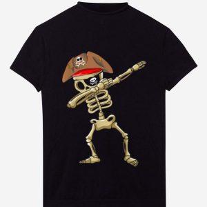 Top Dabbing Skeleton Pirate Halloween Costume Gift Idea shirt