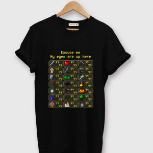 Top Excuse Me My Eyes Are Up Here Game shirt