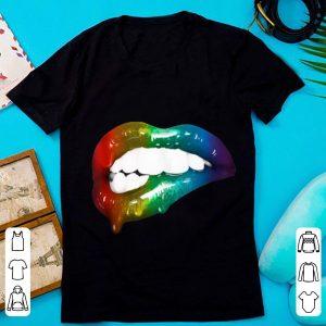 Top Rainbow Lips Art Addicts shirt