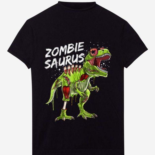 Top Zombie Saurus Halloween Dinosaur T Rex Zombie Shirt Boys shirt