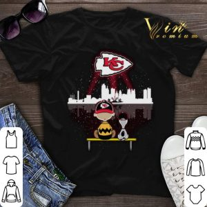 Watching Kansas City Chiefs Charlie Brown and Snoopy shirt