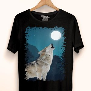 Wolf Night Howl Howling At The Moon shirt