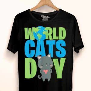 World Cats Day Katzen Geschenk Cats Lover shirt