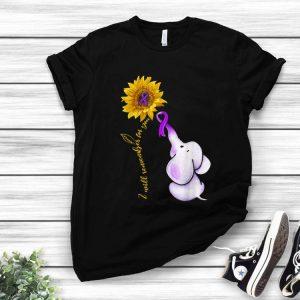 Elephant I Will Remember For You Sunflower Alzheimer's Awareness shirt