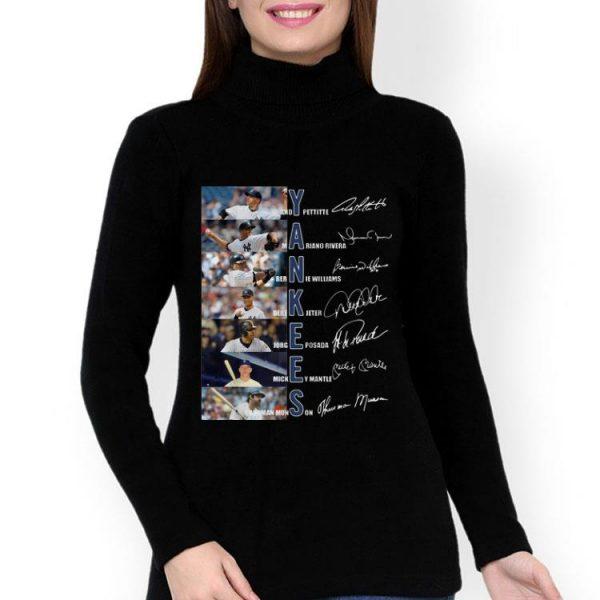 Yankees Derek Jeter Jorge Posada Mickey Mantle Signatures shirt