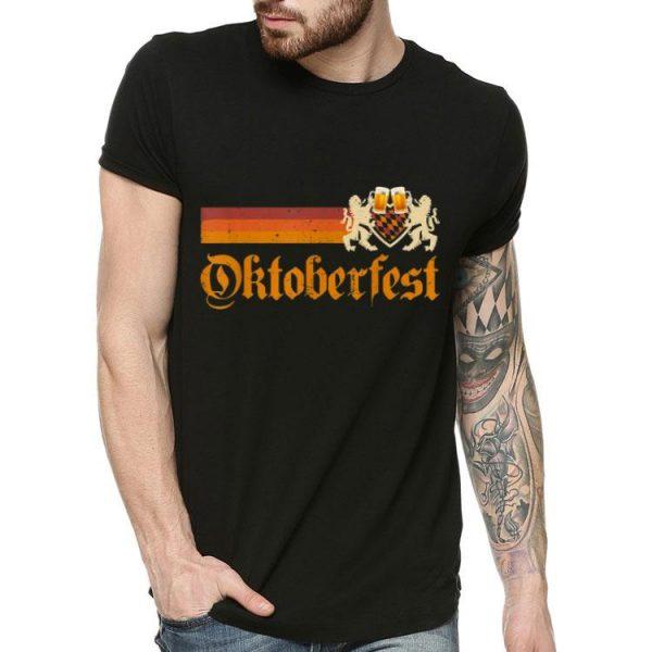 Vintage Germany Oktoberfest 2019 Heraldic Lion Beer shirt