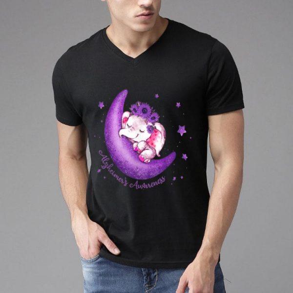 Alzheimer's Awareness Cute Elephant On The Moon shirt